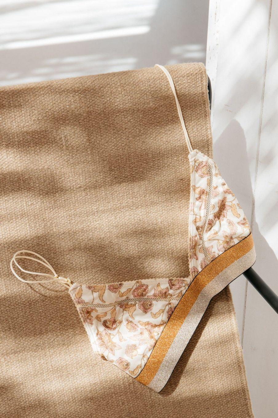 boheme chic vintage soutien-gorge femme shosha blush flowers