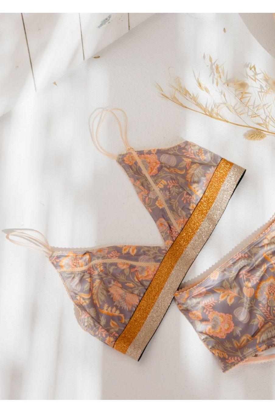 boheme chic vintage soutien-gorge femme shosha grey california flowers