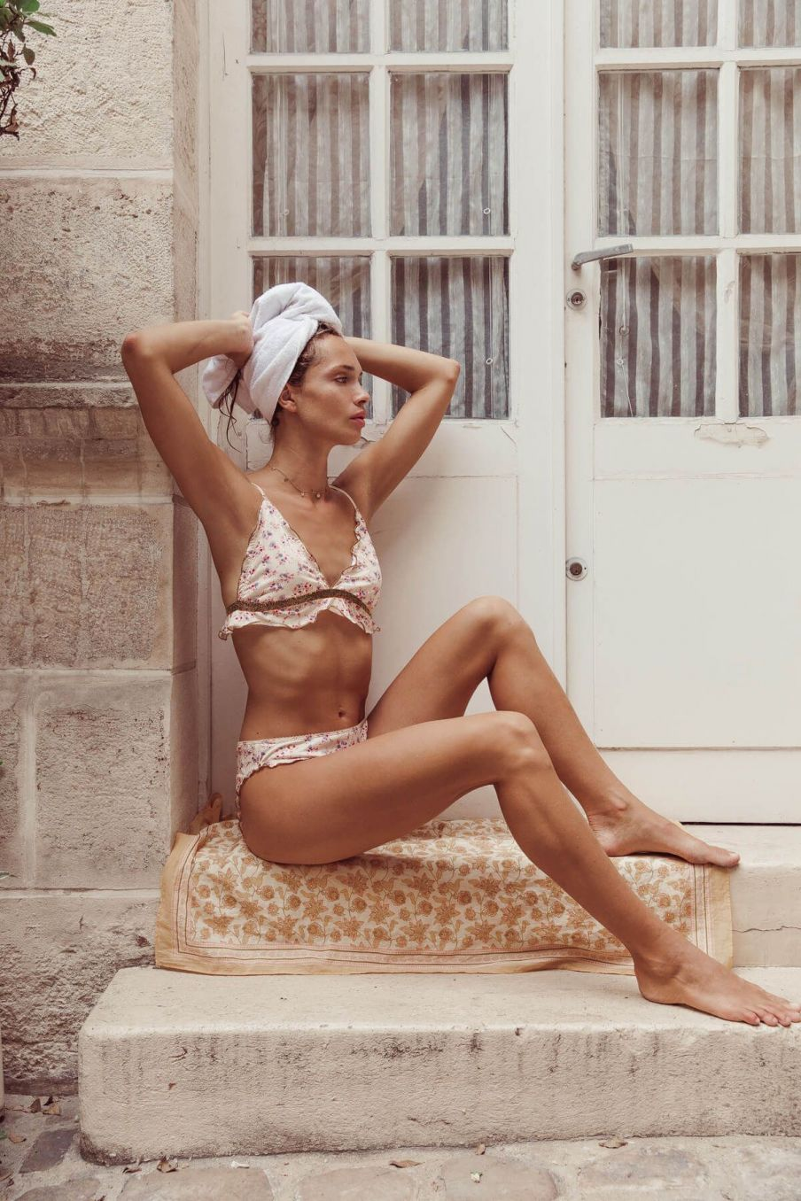 boheme chic vintage soutien-gorge femme yejina cream blossom