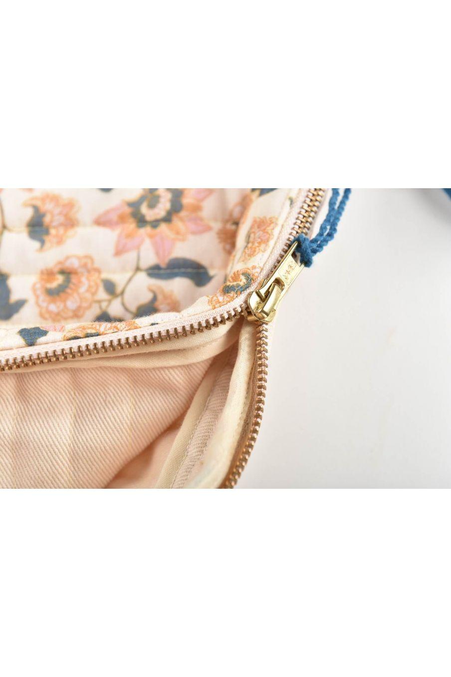 boheme chic vintage housse d'ordinateur femme hoa cream flowers