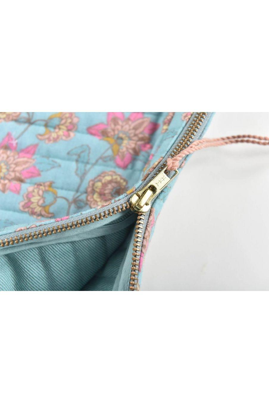 boheme chic vintage housse d'ordinateur femme hoa turquoise flowers
