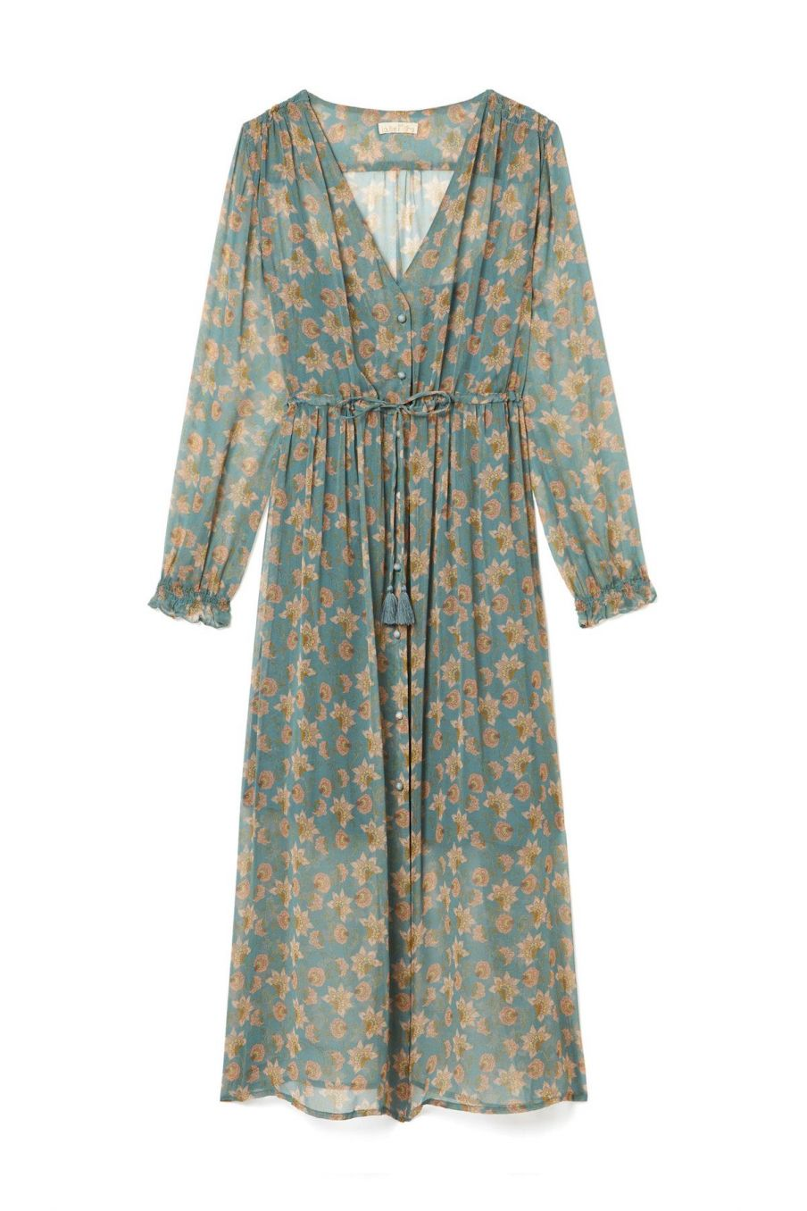 boheme chic vintage robe femme chally storm flowers