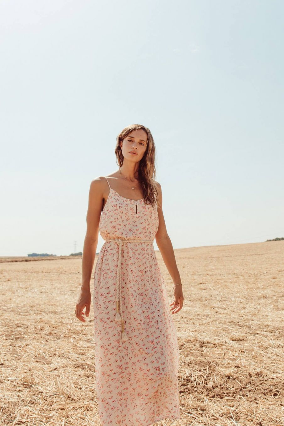 boheme chic vintage robe femme chamane cream blossom