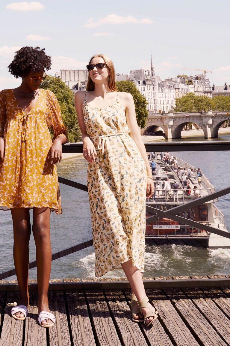 boheme chic vintage robe femme chamane cream flowers