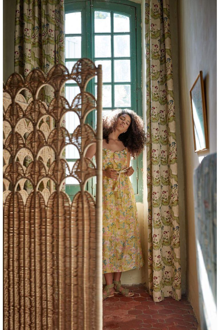 boheme chic vintage robe femme chamane soft honey parrots