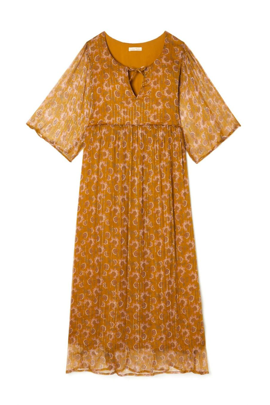 boheme chic vintage robe femme geranian cinnamon flowers