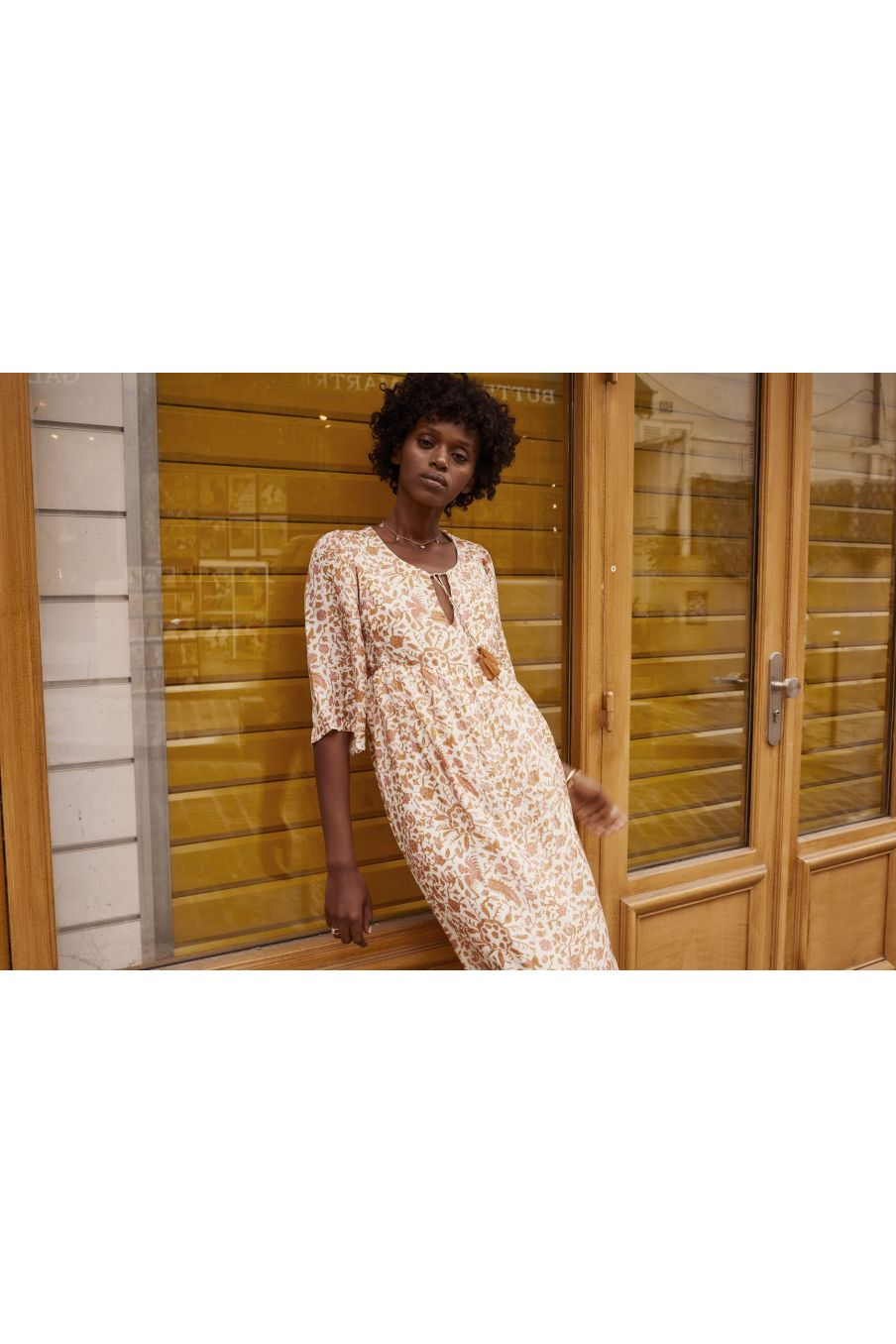 boheme chic vintage robe femme geranian cream joshua flowers