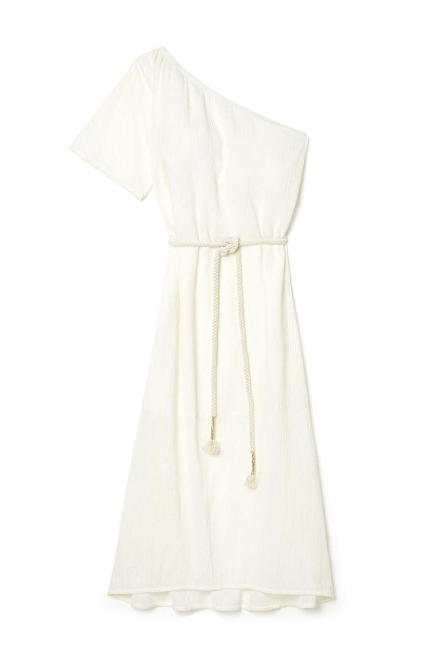 boheme chic vintage robe femme laura ecru