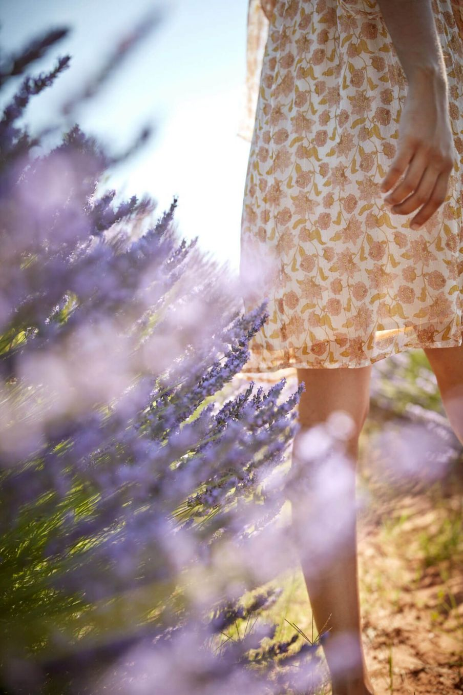 boheme chic vintage robe femme otti blush flowers lurex