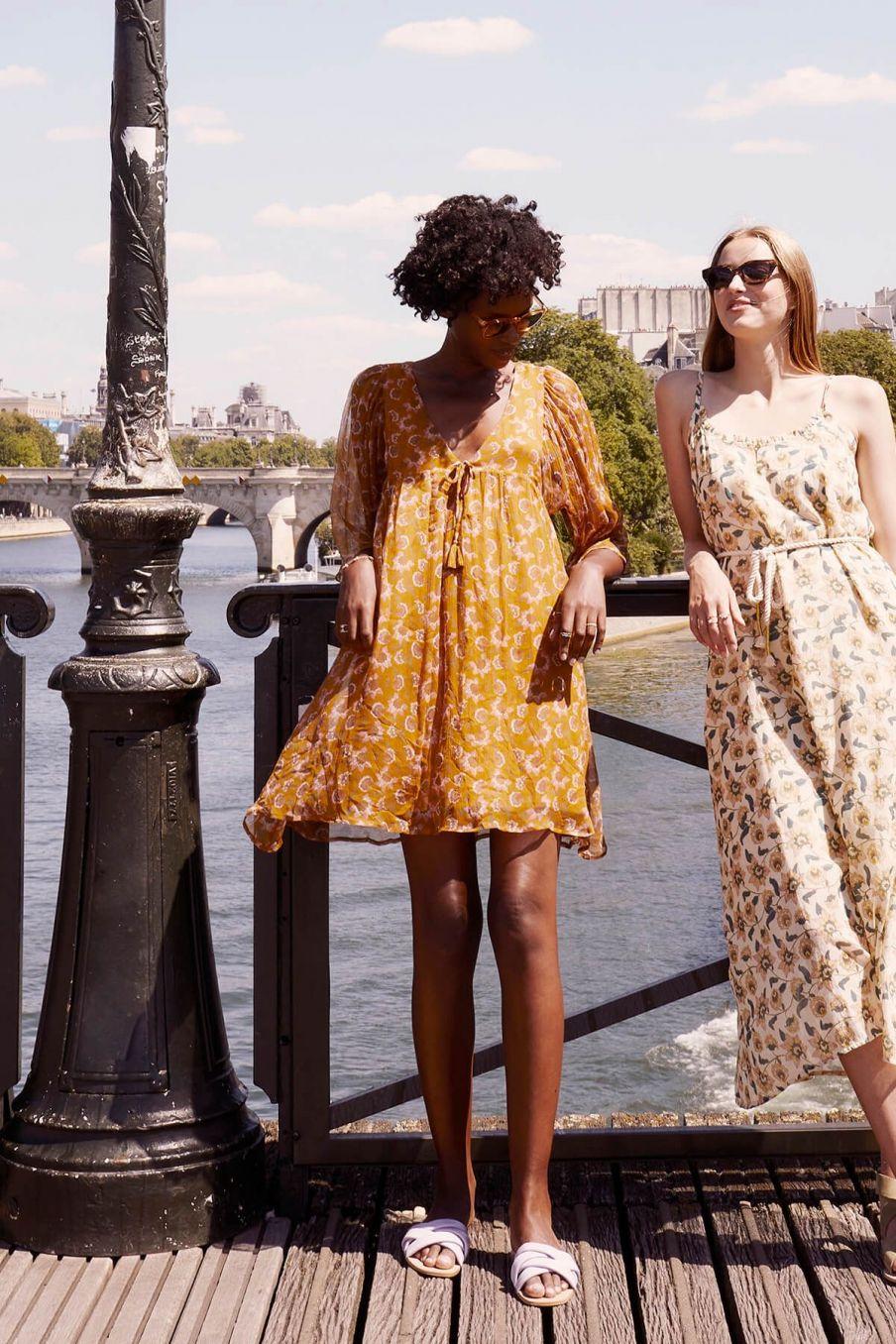 boheme chic vintage robe femme otti cinnamon flowers