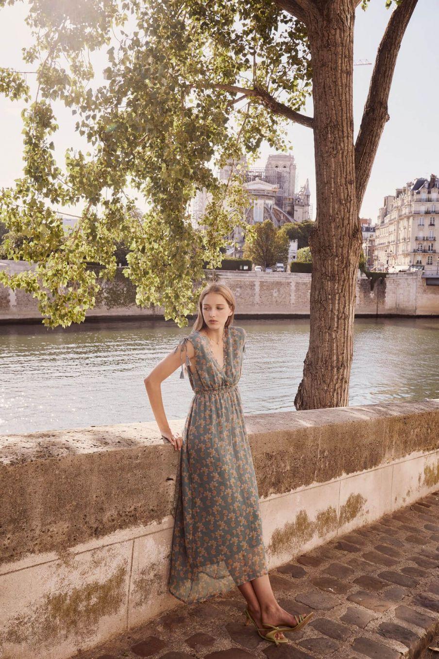 boheme chic vintage robe femme plumeria storm flowers