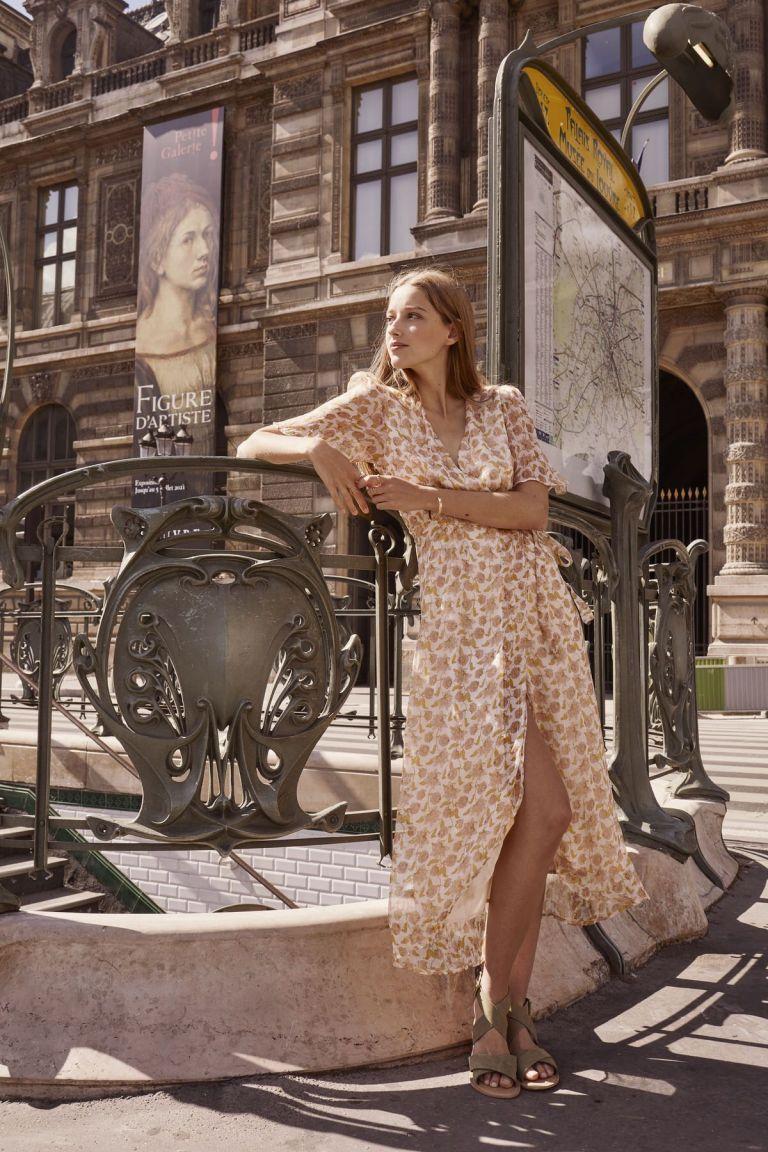 boheme chic vintage robe femme steria blush flowers lurex