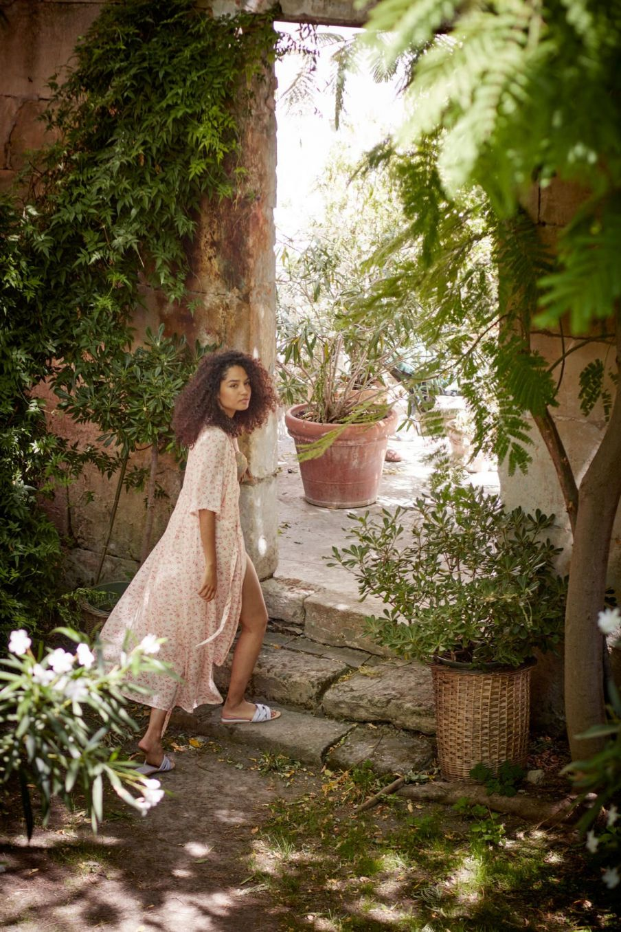 boheme chic vintage robe femme steria cream blossom