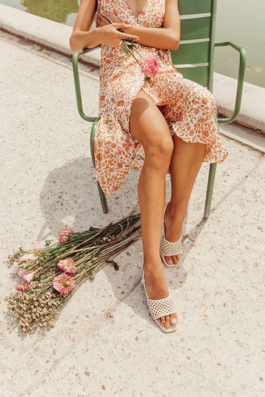 boheme chic vintage robe femme sunnyvale cream joshua flowers