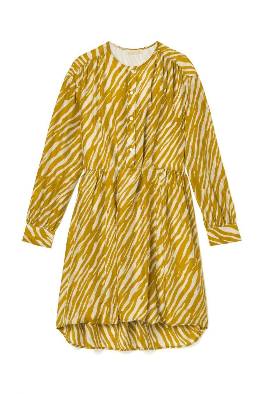 boheme chic vintage robe femme wara cinnamon brush stripes