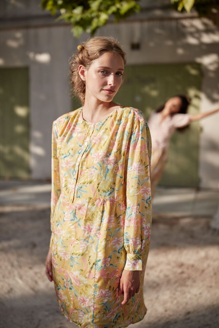 boheme chic vintage robe femme wara soft honey parrots