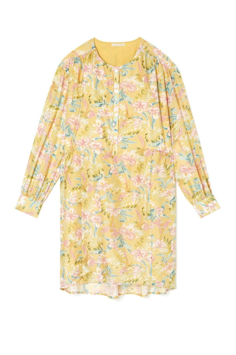 boheme chic vintage robe femme wara soft honey parrots