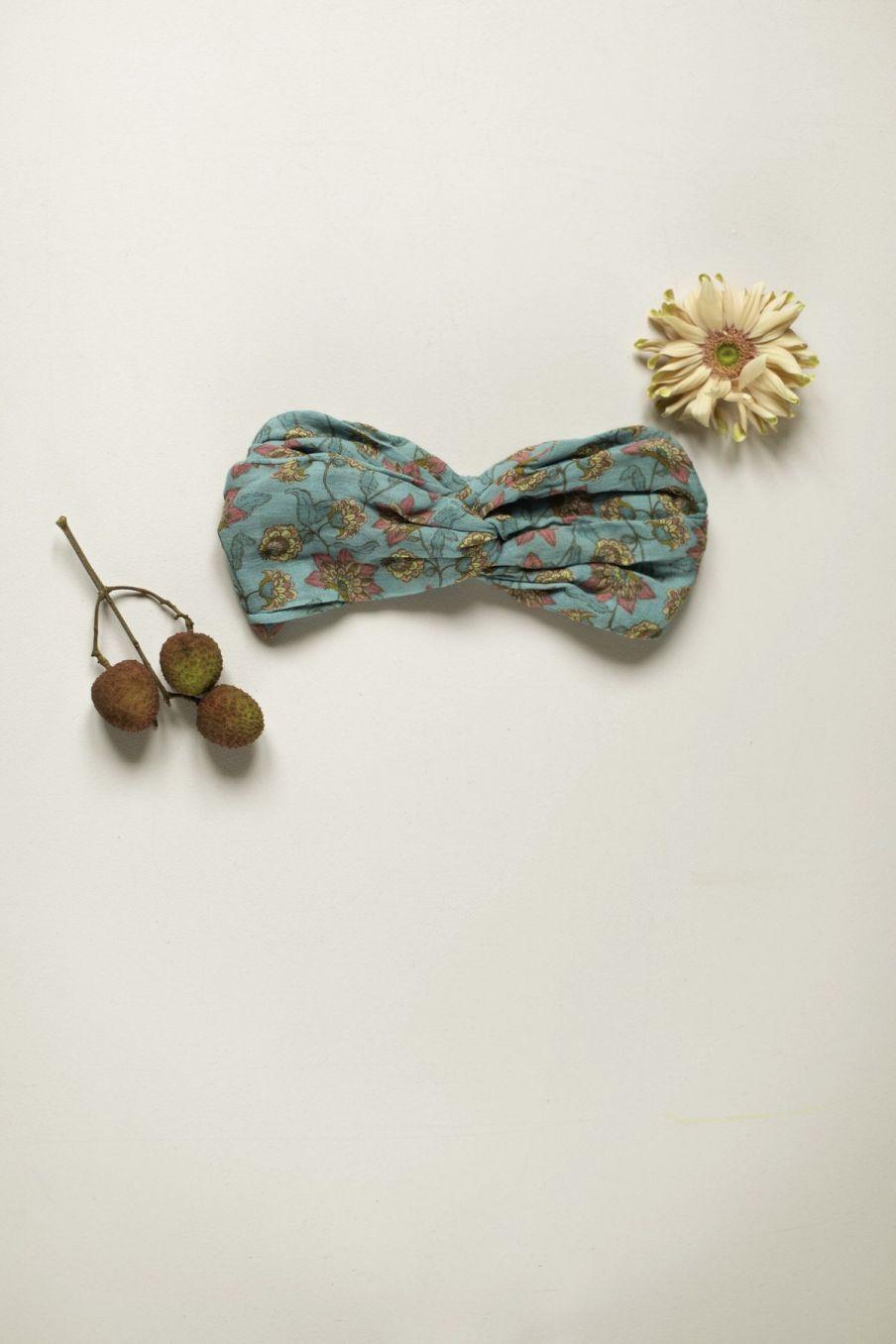 boheme chic vintage bandeau femme yuriria turquoise flowers