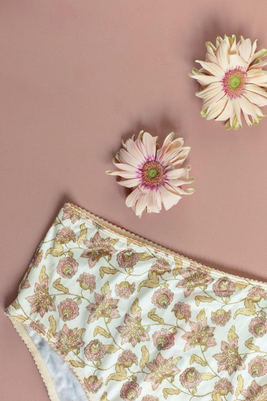 boheme chic vintage culotte taille haute femme rina blush flowers