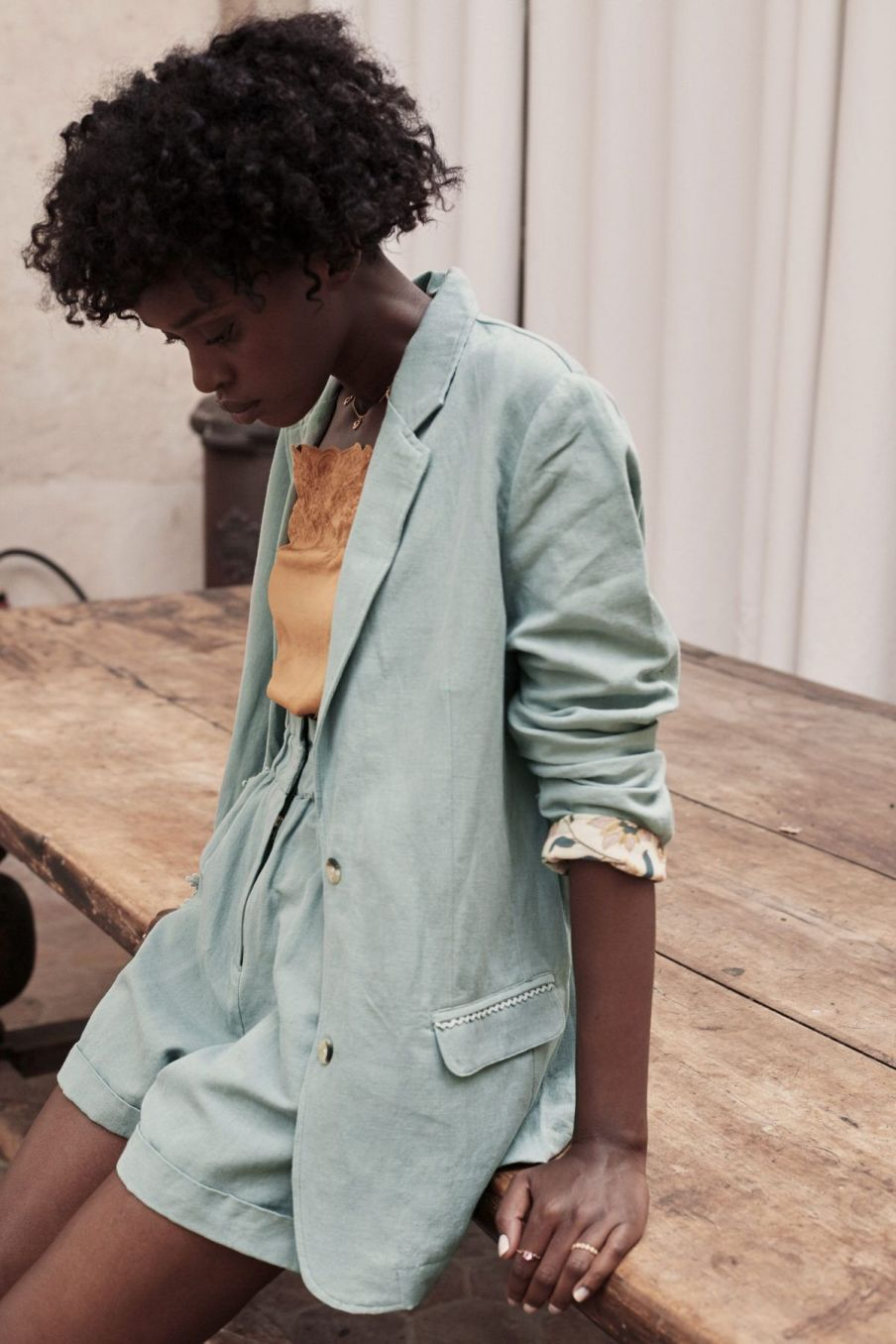 boheme chic vintage veste femme anzou vintage blue