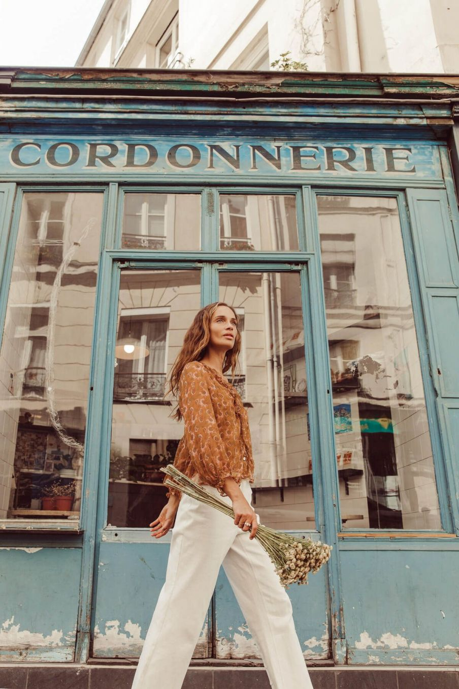 boheme chic vintage jean femme suzie ecru