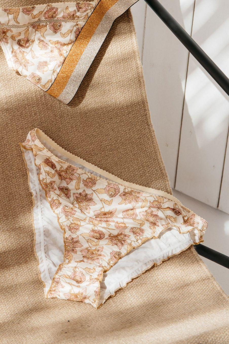 boheme chic vintage culotte femme katia blush flowers