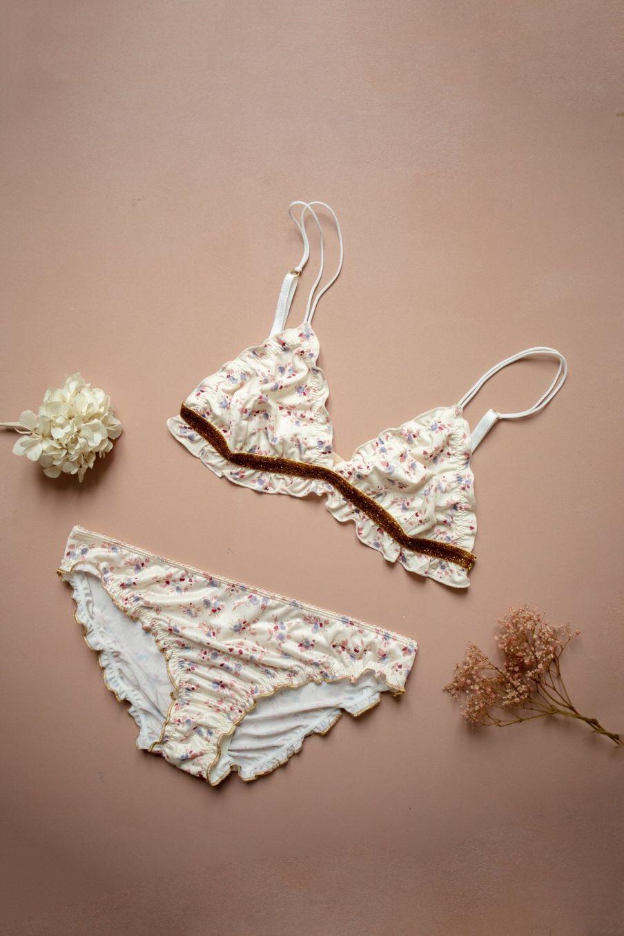 boheme chic vintage culotte femme mimina cream blossom