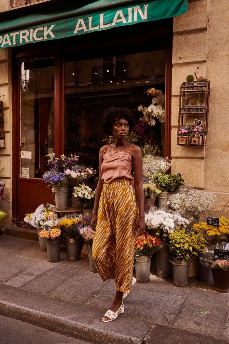 boheme chic vintage pantalon femme arloew cinnamon brush stripes