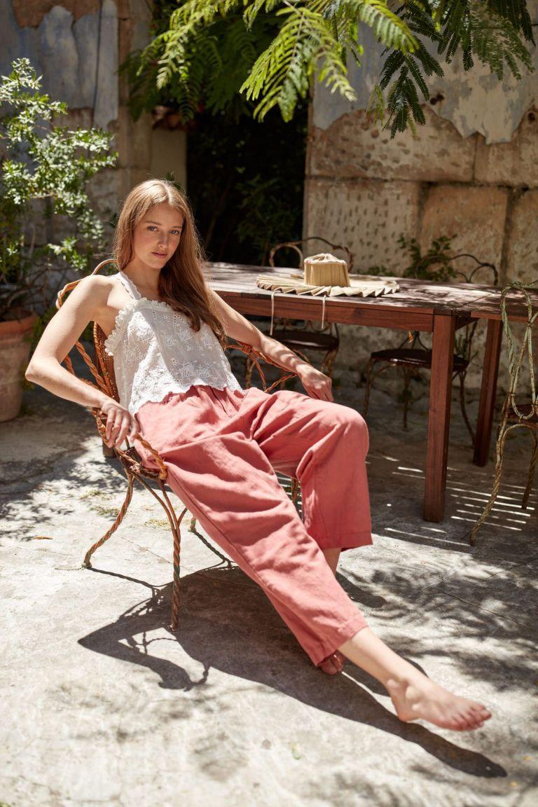 boheme chic vintage pantalon femme arloew terracota