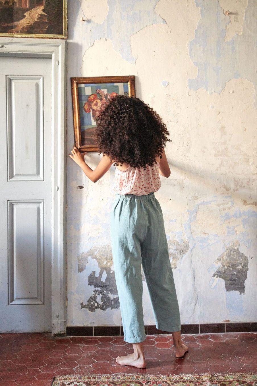 boheme chic vintage pantalon femme arloew vintage blue