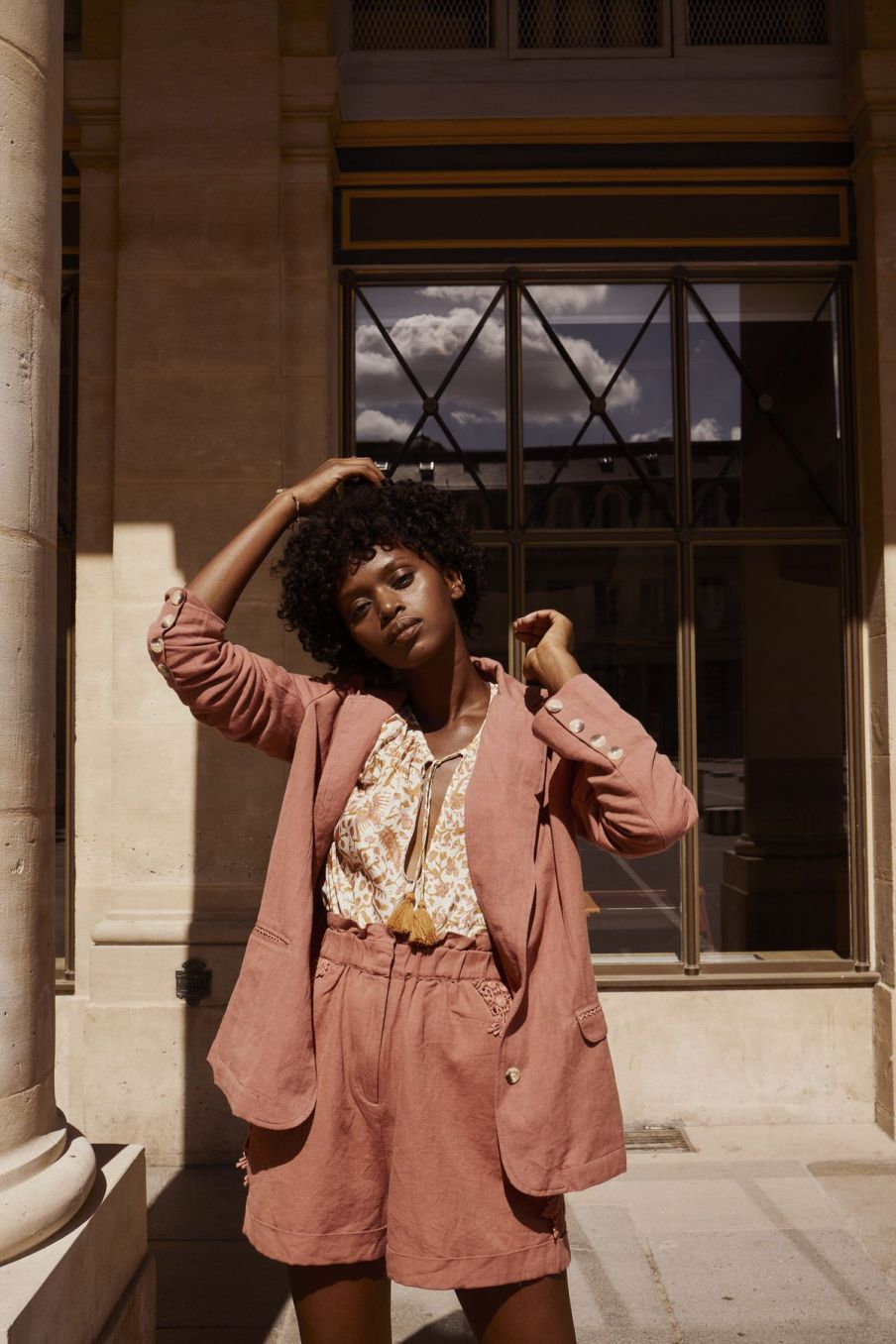 boheme chic vintage short femme anton terracota