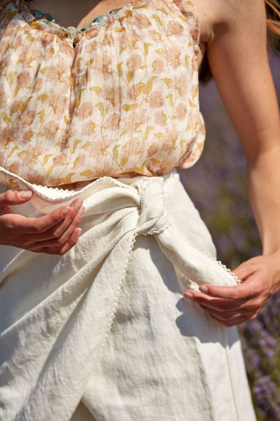 boheme chic vintage jupe femme arlie ecru
