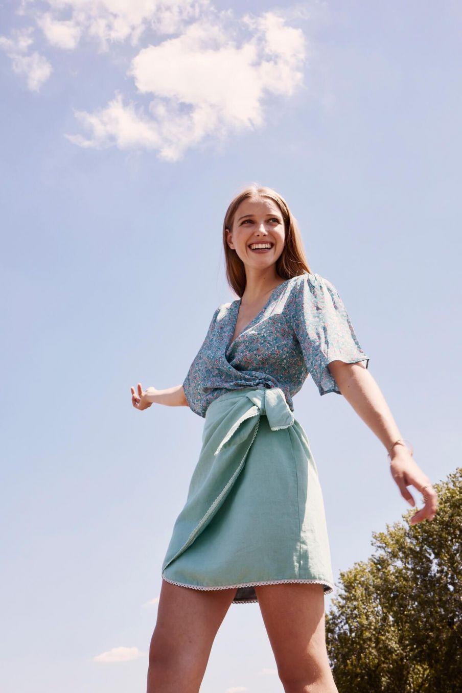 boheme chic vintage jupe femme arlie vintage blue