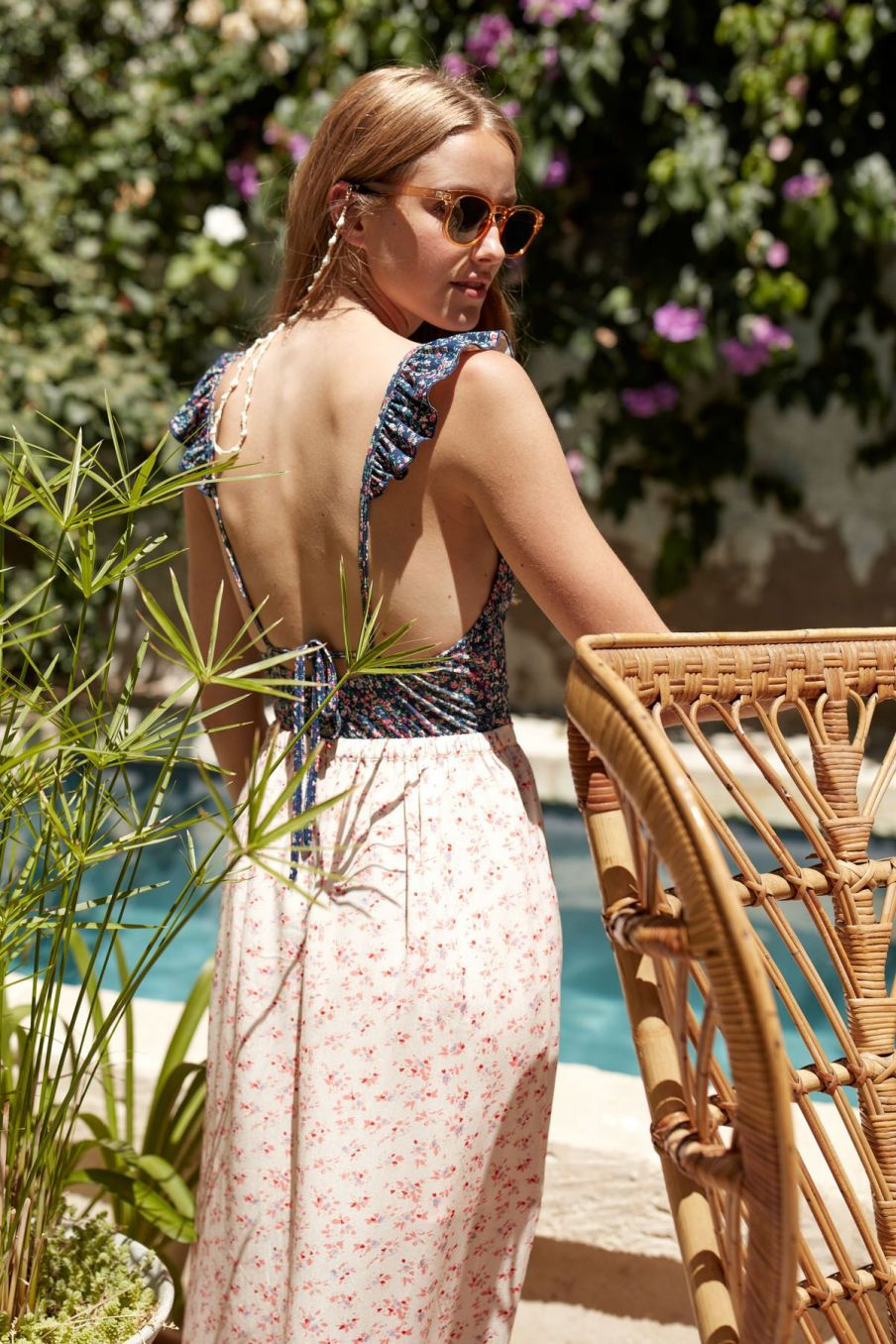 boheme chic vintage jupe femme carlita cream blossom