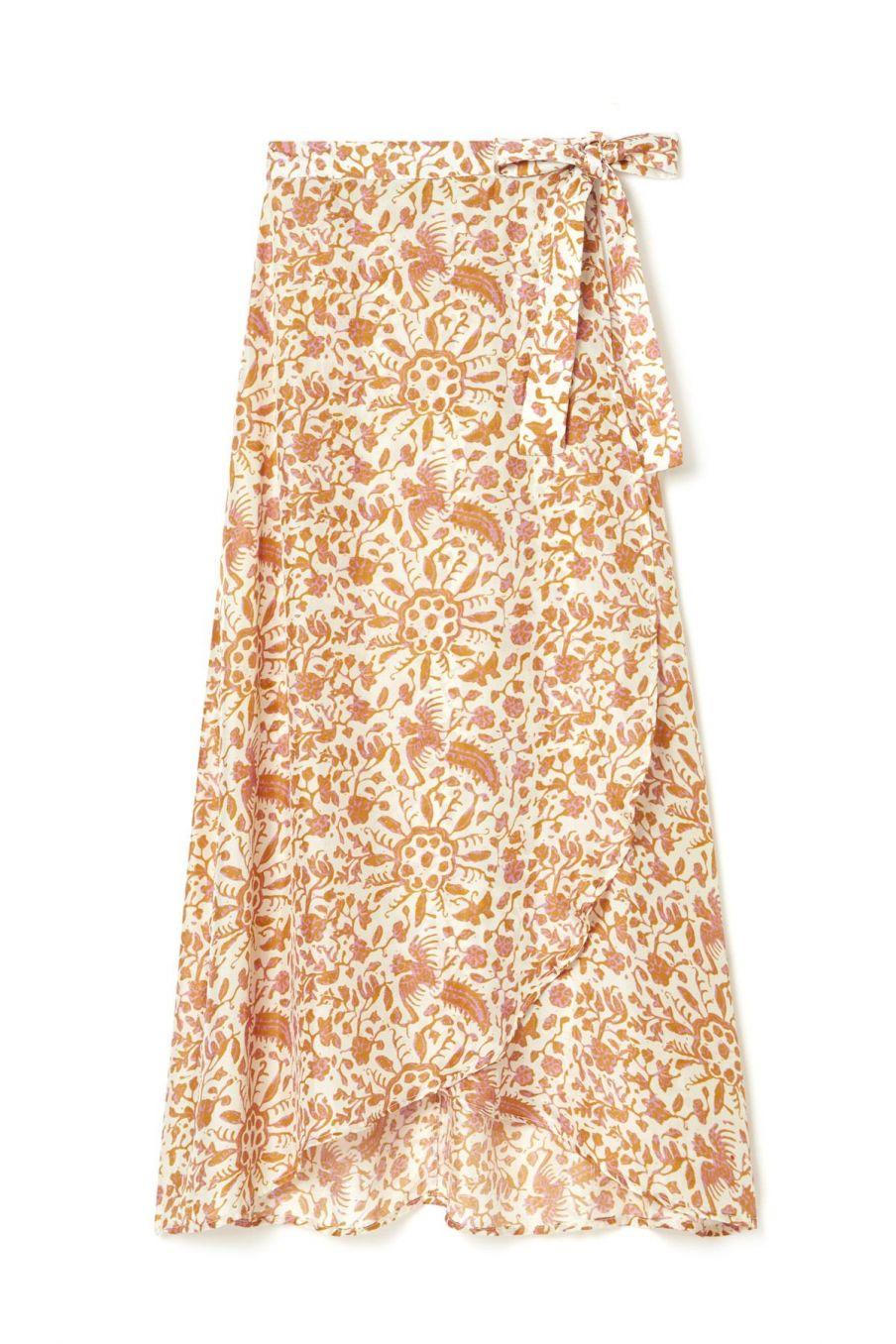 boheme chic vintage jupe femme lucia cream joshua flowers