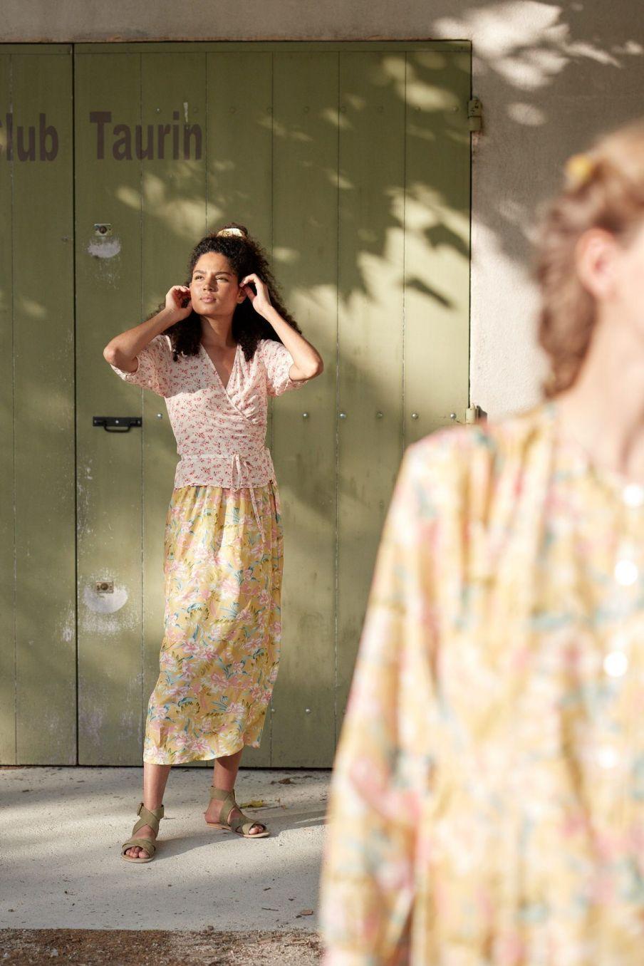 boheme chic vintage jupe femme lucia soft honey parrots