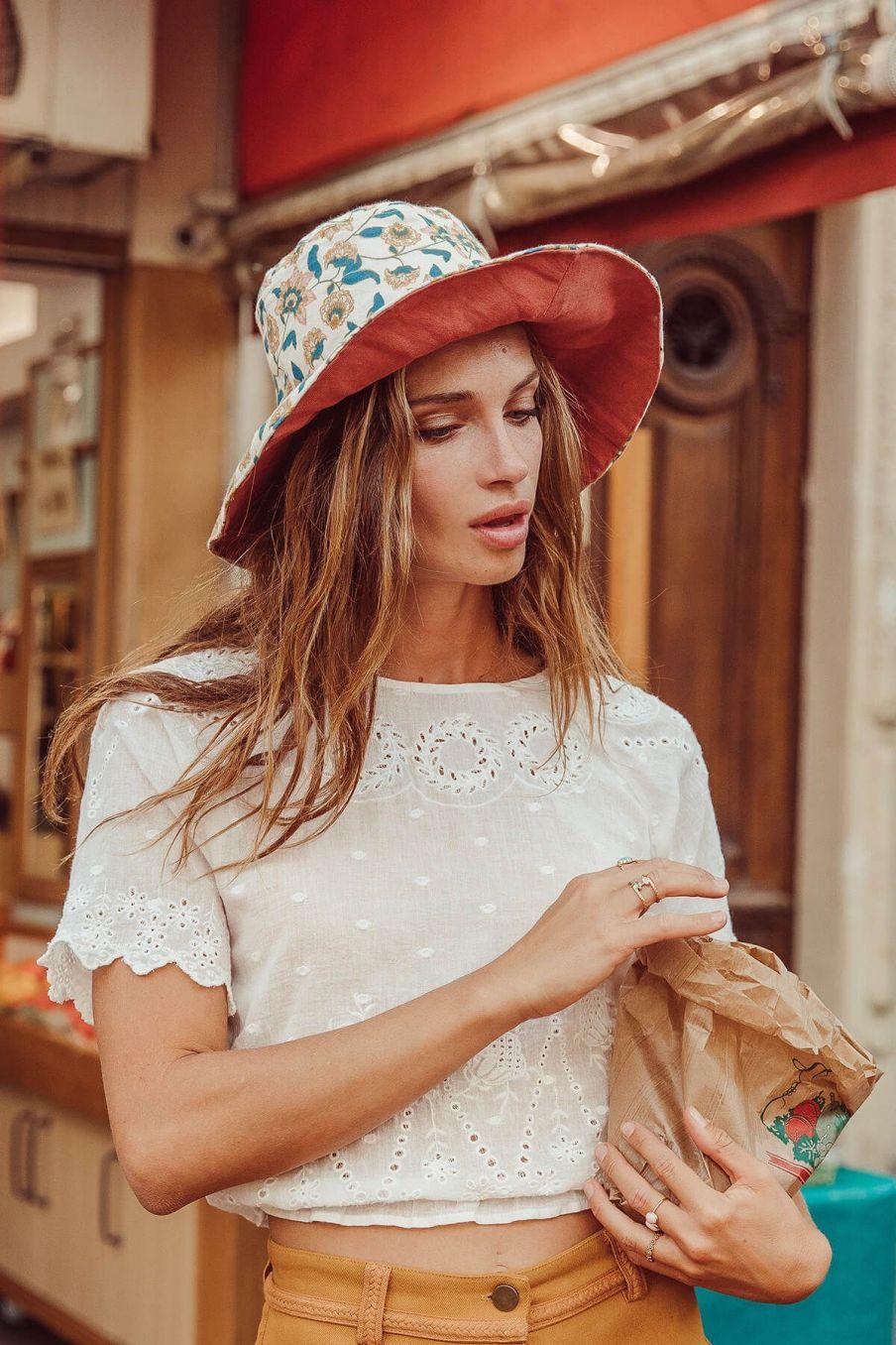 boheme chic vintage chapeau femme dylan cream flowers
