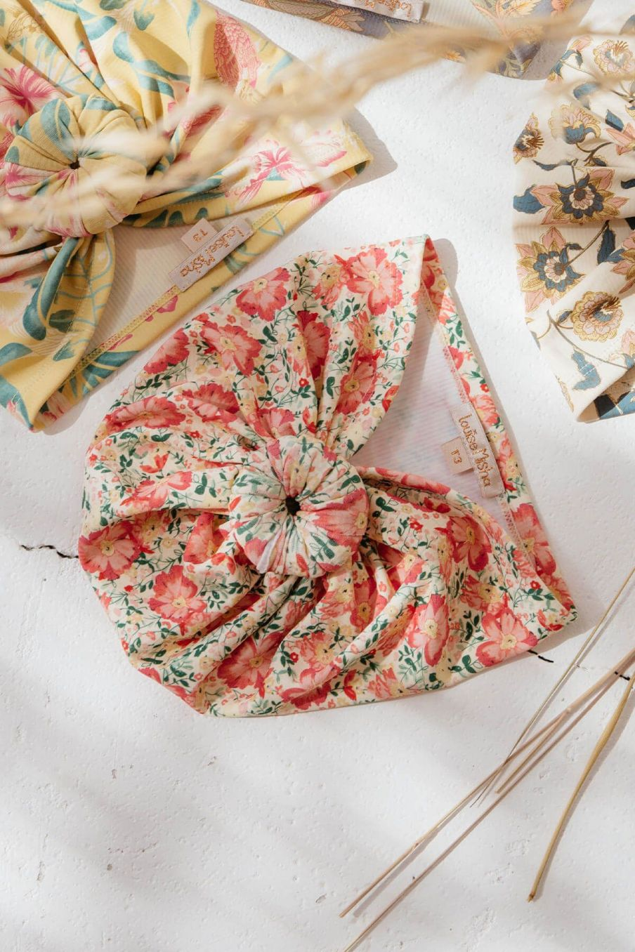 bohemian chic vintage bathing turban girl sylvania pink meadow