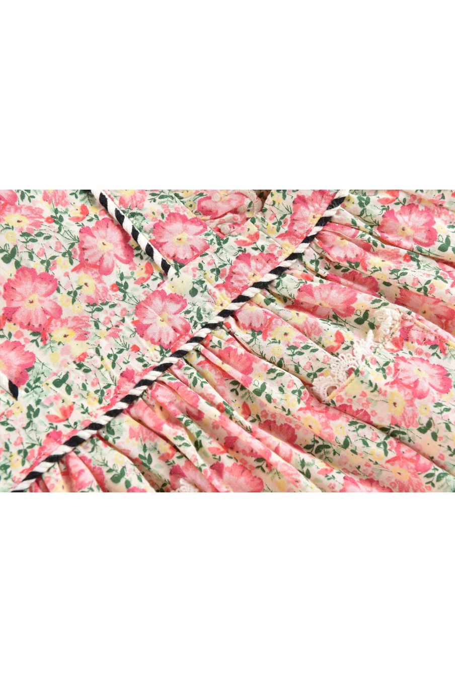 bohemian chic vintage dress girl mistinguette pink meadow