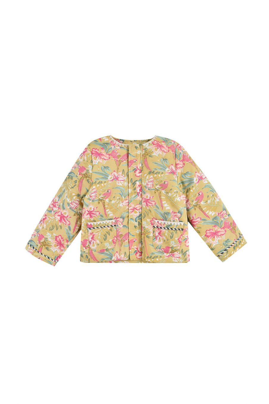 bohemian chic vintage jacket girl soluta soft honey parrots
