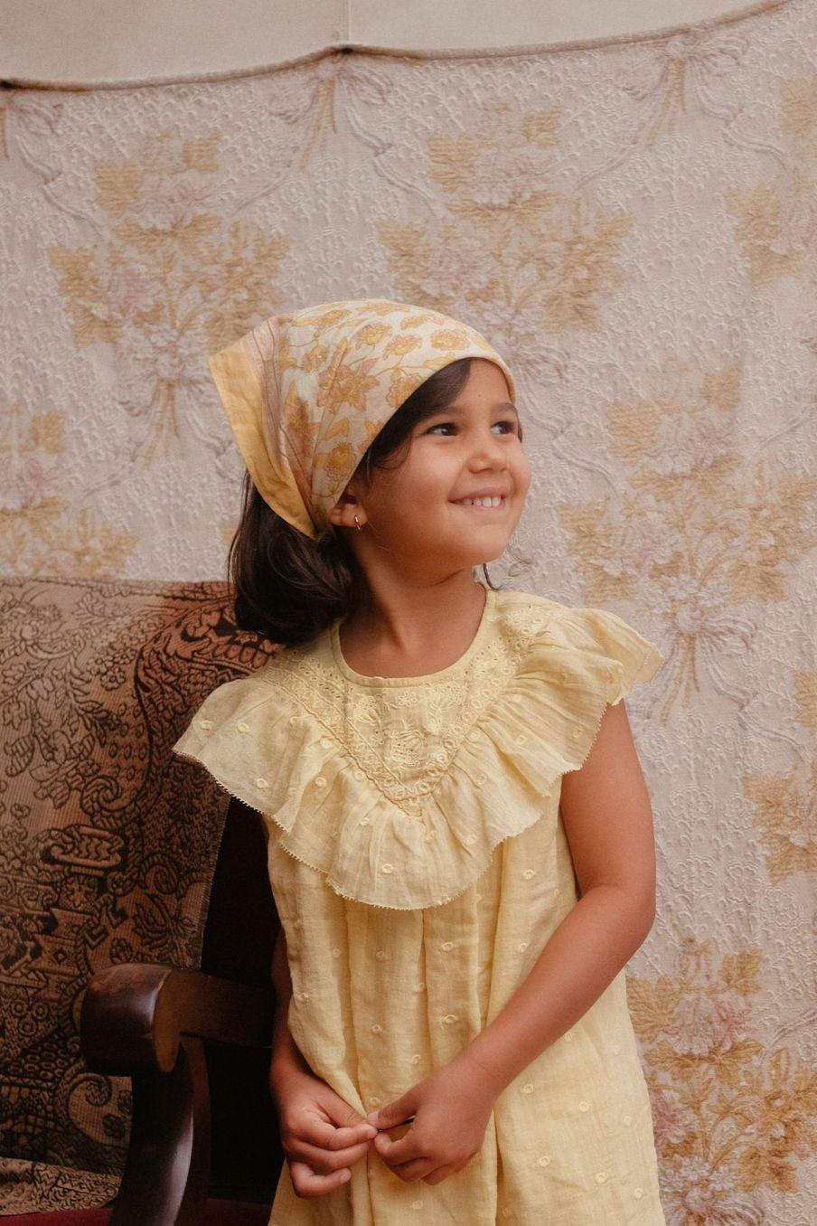 bohemian chic vintage small scarf girl rebha blush flowers
