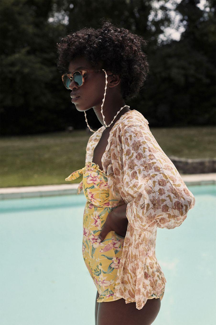 boheme chic vintage maillot de bain femme bayo soft honey parrots