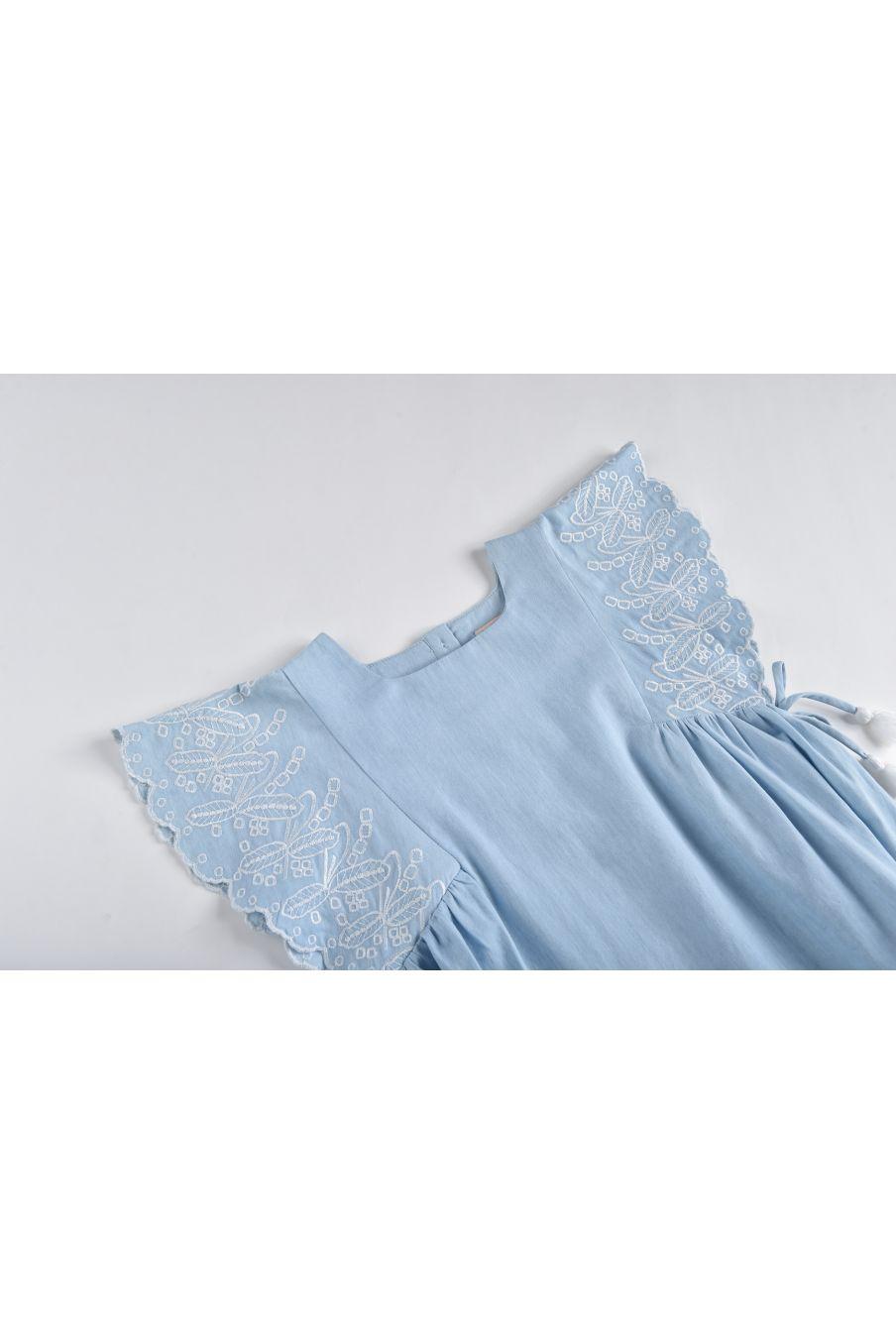 boheme chic vintage robe fille cordoba chambray