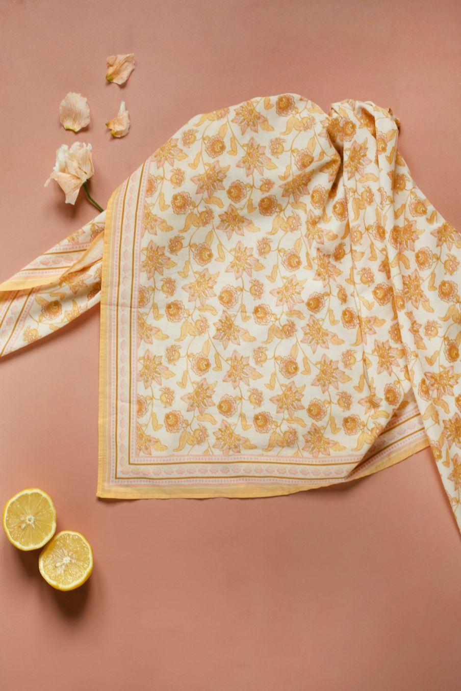 boheme chic vintage large foulard femme heba blush flowers