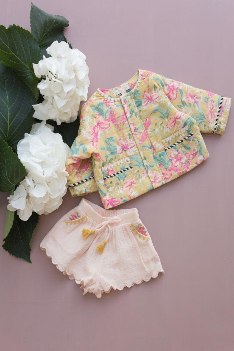 boheme chic vintage short bébé fille malaika blush