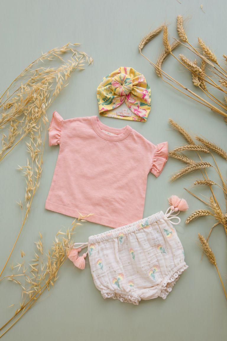 boheme chic vintage bloomer bébé fille almarico blush dandelion flowers
