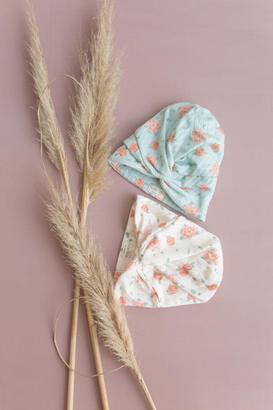 boheme chic vintage turban fille abina off-white flowers