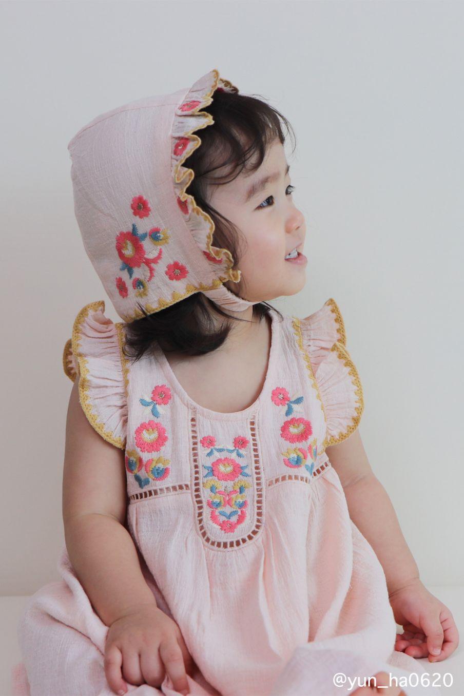 boheme chic vintage robe fille jendahiu blush