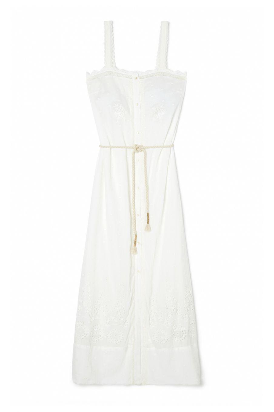 boheme chic vintage robe femme guananina off-white plumetis