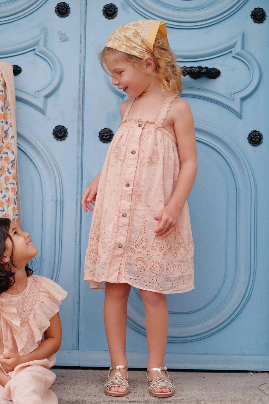boheme chic vintage robe fille guananina sienna plumetis